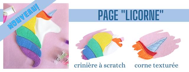 PAGE 'LICORNE criniere a scratch corne texturee