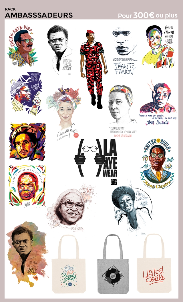 PACK AMBASSSADEURS Pour 300€ ou plus 1902-1972 LUMUMBA UNITED SOULS FANJON AMILCAR a To MAKE you of THE DON'T AMES BALOWIN LETERNEL SMONE DE WEAR Simone LUMUMBA UNITED
