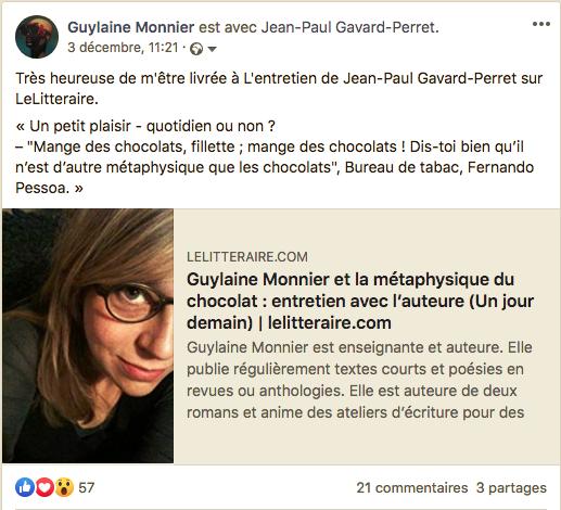 Interview de Guylaine Monnier.
