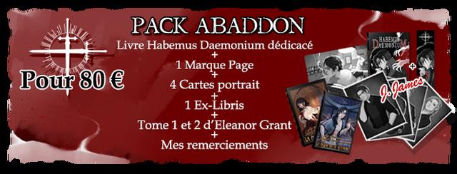 - PACK ABADDON Livre Habemus Daemonium dedicace 1 Marque Page Pour 80 4 Cartes portrait 1 Ex-Libris Tome 1 et 2 d Eleanor Grant Mes remerciements