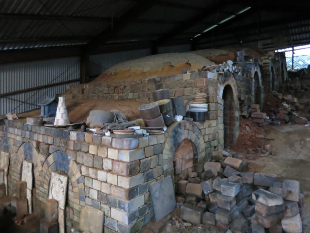 nobori gama (climbing kiln)