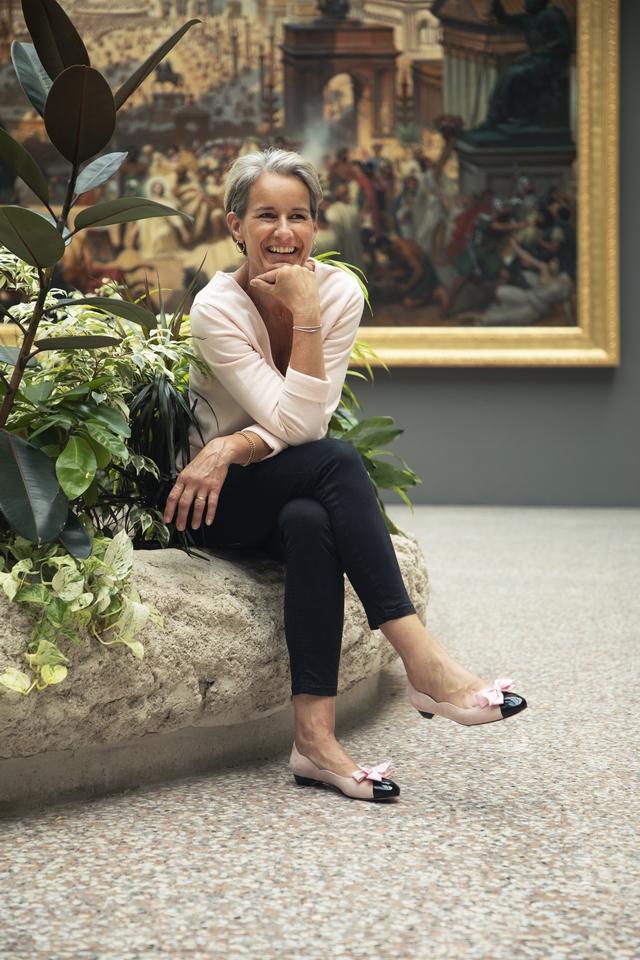 Octobre rose lutte contre le cancer femme cinquante ans, ballerines rose maison castille et Romy Astrid Préel