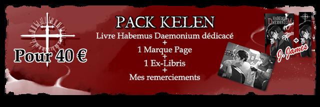 PACK KELEN Livre Habemus Daemonium dedicace Pour 40 E 1 Marque Page 1 Ex-Libris Mes remerciements