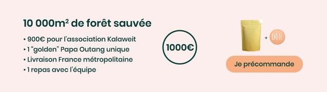 """10 000m2 de foret sauvee + . 900E pour I'association Kalaweit 10006 1 """"golden"""" Papa Outang unique Livraison France metropolitaine Je precommande"""