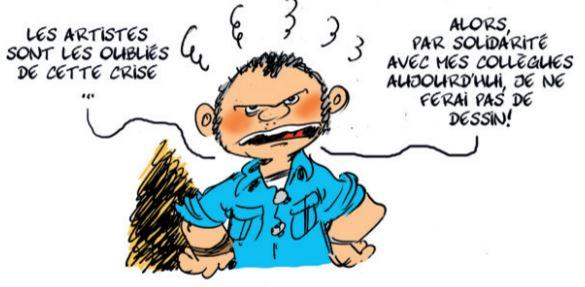 ALORS, SONT ouBLiS ARTISTES PAR SOLDARiTE AVEC MES DE CETTE CRiSE ALDOURDWLI DE NE FERAI PAS DE DESSIN!