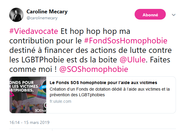 Tweet de Caroline Mecary