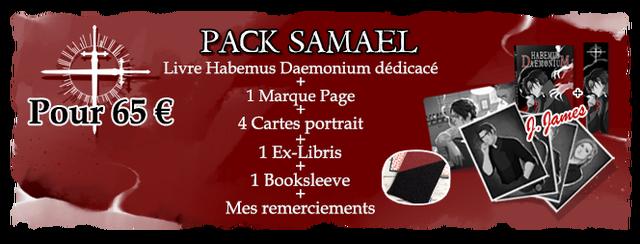 PACK SAMAEL Livre Habemus Daemonium dedicace + 1 Marque Page Pour 65 E + 4 Cartes portrait 1 Ex-Libris 1 Booksleeve Mes remerciements