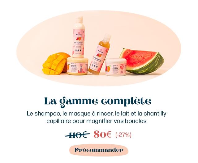 La gamme Complete Le shampoo, le masque a rincer, le Wait et la chantilly capillaire pour magnifier VOS boucles (-27%) PreGommander