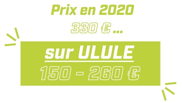 Prix en 2020 330 E sur ULULE 150 260
