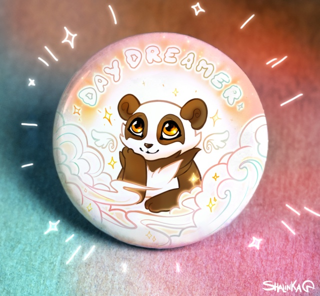 Panda fans 38mm badges and Fridge Magnet collection personalised wildlife