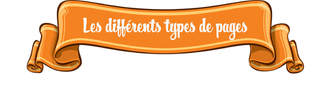 Les lifferents types pes de pages
