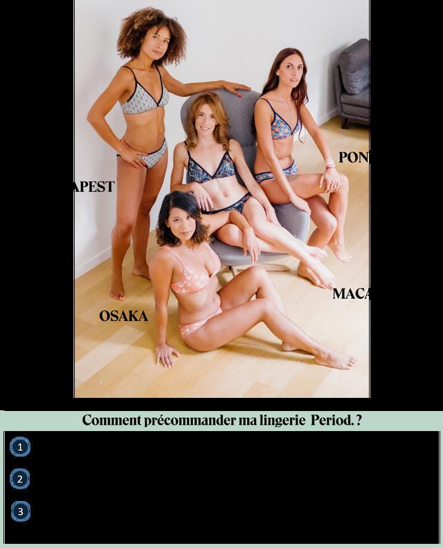 PON MACA OSAKA Comment precommander ma lingerie Period.? 1 2 3