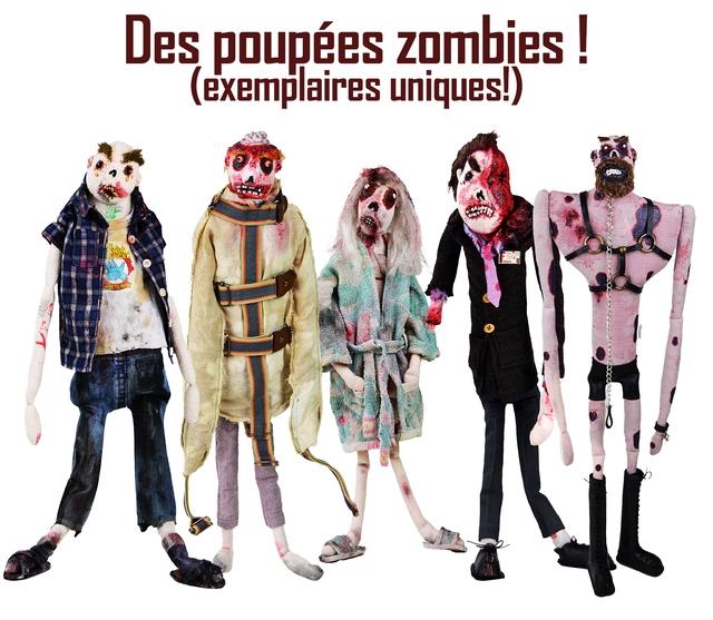 Des poupees zombies (exemplaires uniques!)