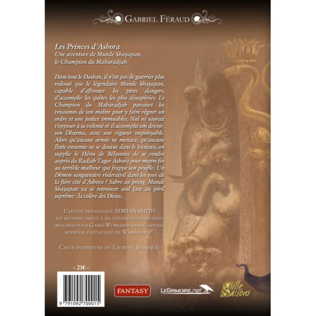 Quatrieme de couverture des Princes d'Ashora