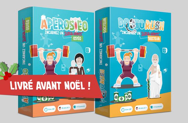 INCARNEZ UN HEROS OSTEO DOCTEUR - LIVRE AVANT NOEL ! 2-5 joueurs 10 ans et + 2-5 joueurs 10 ans et + O Env. 20' Env. 20