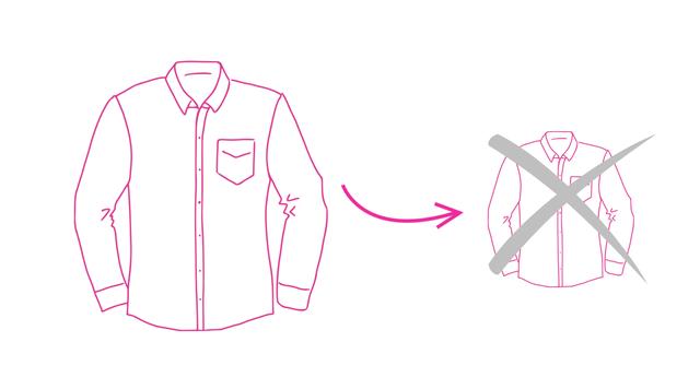 Visuel sur le rétrécissement des vêtements