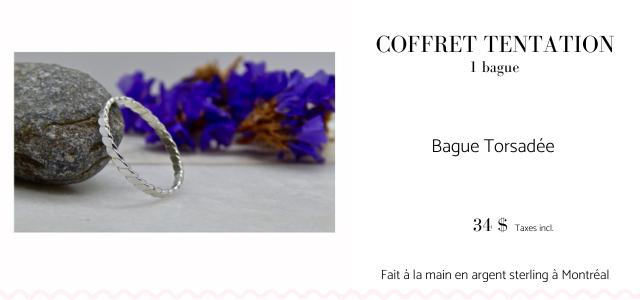 COFFRET TENTATION I bague Bague Torsadee 34 $ Taxes incl Fait a la main en argent sterling a Montreal
