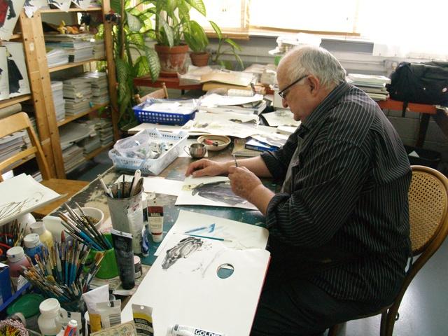 François Barbeau dans son atelier.