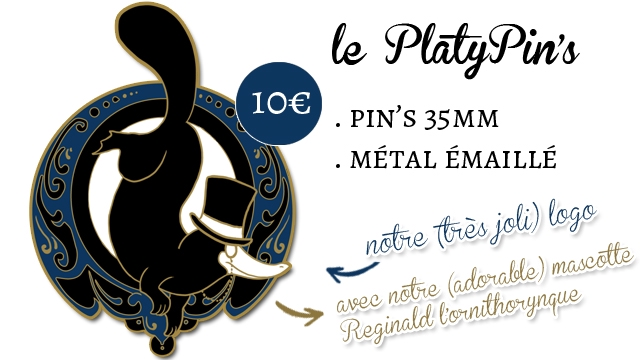 le PlatyPin's PIN'S 35MM METAL EMAILLE notrre tresjoli) logo Reginal notre mascotte tornithorynque
