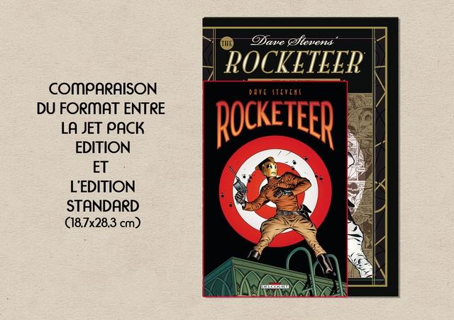 THE ROCKETEER COMPARAISON STEVENS DU FORMAT ENTRE LA JET PACK ROCKETEER EDITION ET L'EDITION STANDARD cm) DELCOURT