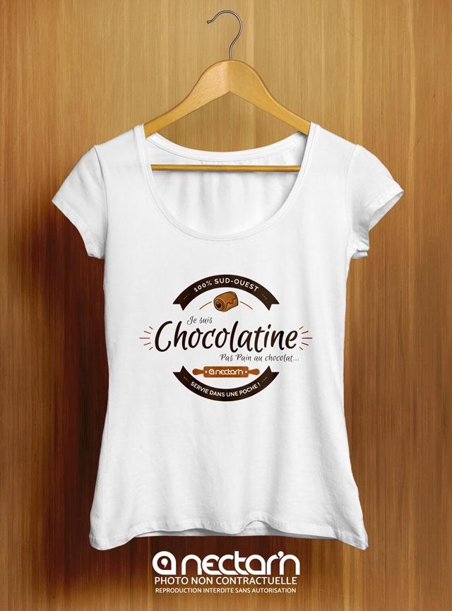 T-shirt Femme avec le visuel «Je suis Chocolatine»