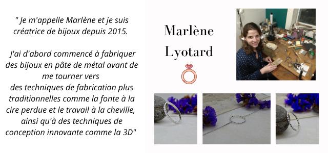 """""""Je m'appelle Marlene et je suis creatrice de bijoux depuis 2015. Marlene J'ai d'abord commence a fabriquer Lyotard des bijoux en pate de metal avant de me tourner vers des techniques de fabrication plus traditionnelles comme la fonte la cire perdue et le travail a la cheville, ainsi qu'd des techniques de conception innovante comme la 3D"""""""