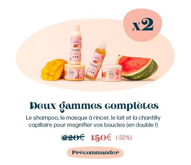 Deux gammes Gompletes Le shampoo, le masque a rincer, le lait et la chantilly capillaire pour magnifier VOS boucles (en double !) 2266 150 (-32%) Ppegommander