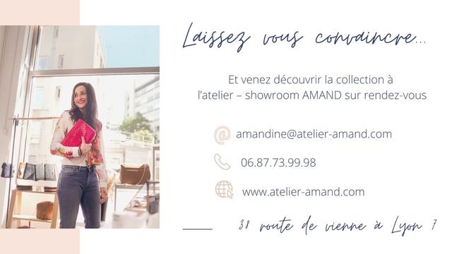 Et venez decouvrir la collection a l'atelier - showroom AMAND sur rendez-vous @ mandine@atelier-amand.com 06.87.73.99.98 www.atelier-amand.com de d 7