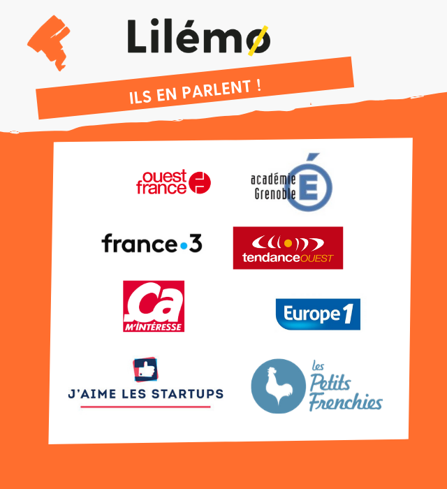 Lilémo : ils en parlent ! Académie de Grenoble, Ouest France, Europe 1, ça m'intéresse, France trois, Tendance ouest, Les petits frenchies, J'aime les startups
