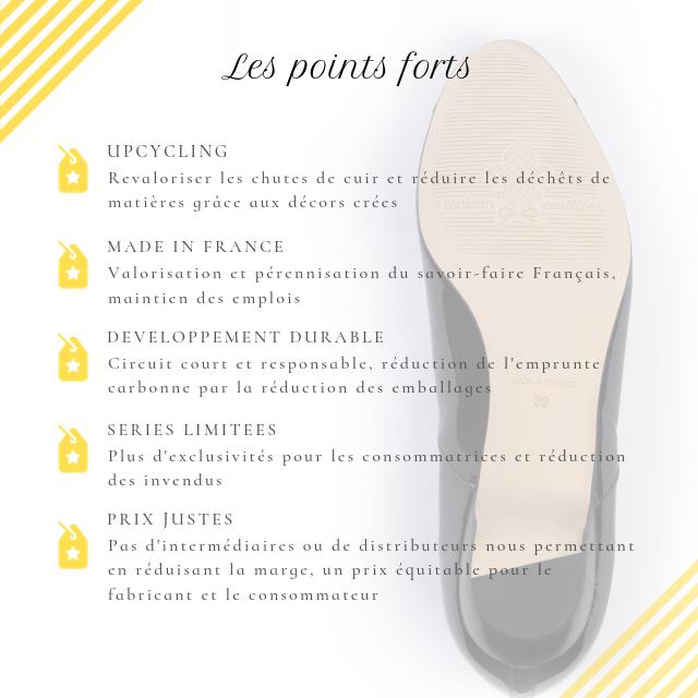 Upcycling des cuirs, revalorisation des déchets, made in France, séries limitées, développement durable, circuit court, savoir-faire français
