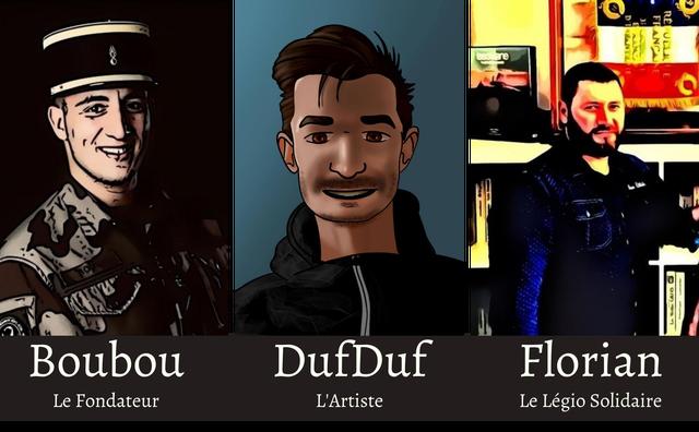 Boubou DufDuf Florian Le Fondateur L'Artiste Le Legio Solidaire