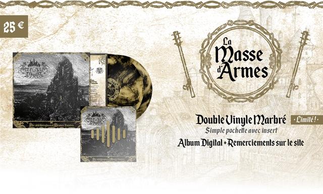 25 La Iasse Armes Double Uinyle Marbre Limite Noireglaces umes Sinisires Simple pochelte avec insert Album Digital +Remerciements sur le site