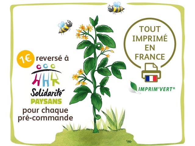 TOUT IMPRIME EN reverse a FRANCE AHR Solidarife IMPRIM'VERT PAYSANS pour chaque pre-commande