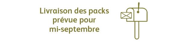 Livraison des packs prevue pour mi-septembre
