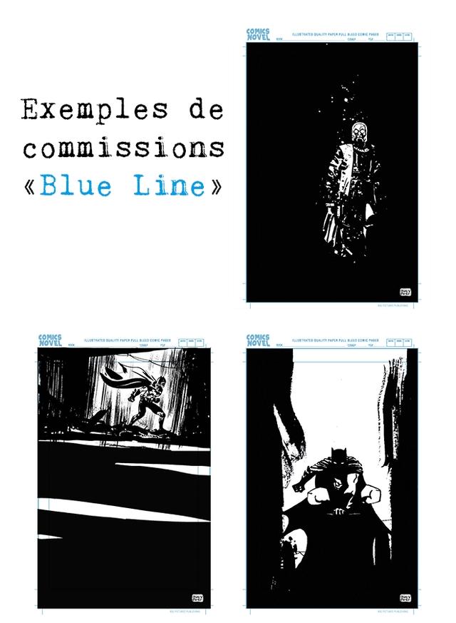 Exemples de commissions <Blue Line > COMICS NOVEL NOVEL