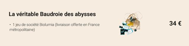 La veritable Baudroie des abysses 1 jeu de societe Biolumia (livraison offerte en France 34 E metropolitaine)