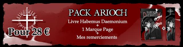 PACK ARIOCH D Livre Habemus Daemonium + Pour 28 E 1 Marque Page + + Mes remerciements