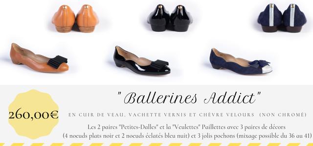 Ballerines addict contrepartie Ulule Petites-Dalles et Veulettes