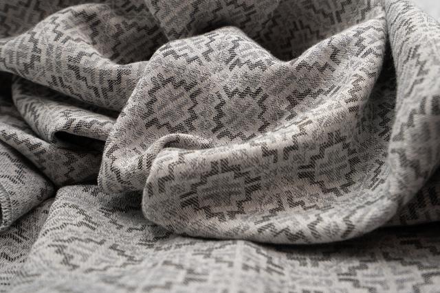 zoom sur tissu soie