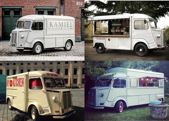 Exemples de Citroën HY aménagés en food truck