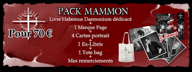 PACK MAMMON Livre Habemus Daemonium dedicace 1 Marque Page + Pour 70 E 4 Cartes portrait 1 Ex-Libris 1 Tote bag Mes remerciements
