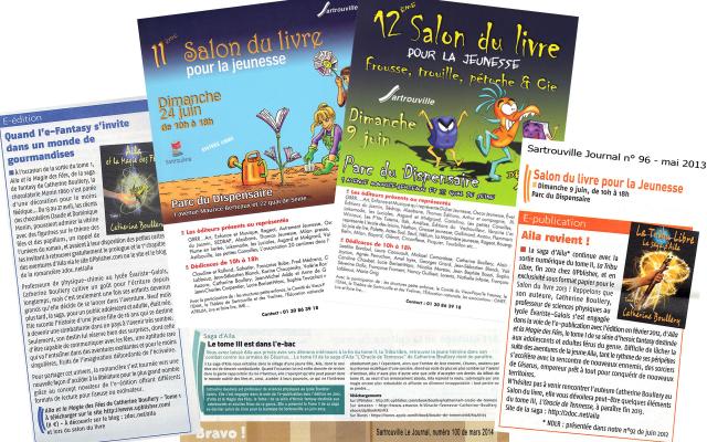 La presse de Sartouville (Yvelines, France) s'empare de la saga d'Aila