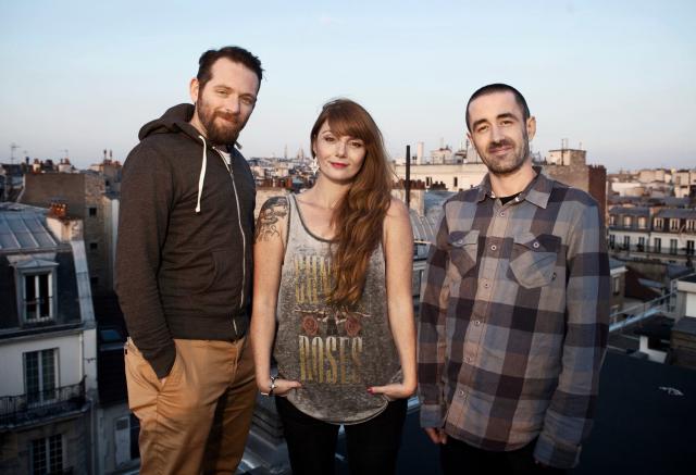 De gauche à droite: Laurent Duroche, Christelle Gras et Yohan Labrousse