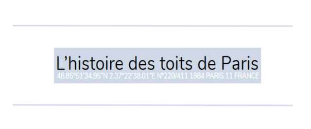 L'histoire des toits de Paris