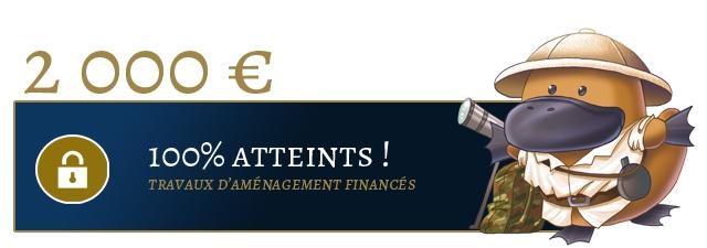 2 OOO E ATTEINTS TRAVAUX D'AMENAGEMENT FINANCES