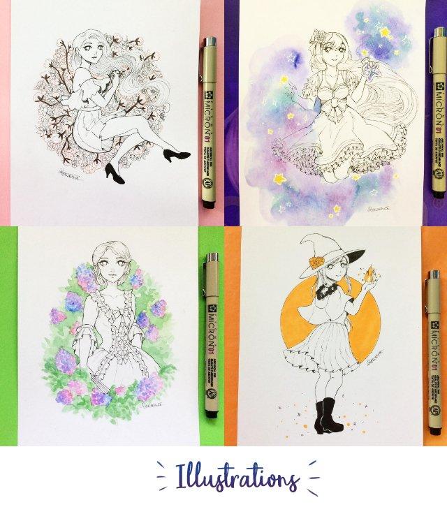 Inktober Artbook - by Rowenanya - Ulule