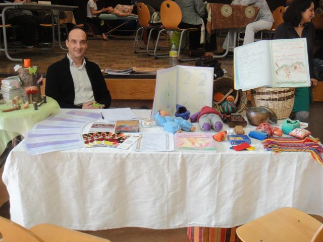 Notre stand au Salon Chrysalide de Bonneville, en mars 2014.