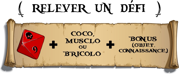 UN DEFI coco, MUSCLO BONUS + OU + (OBJET. CONNAISSANCE) BRICOLO