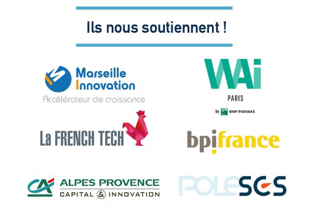 Ils nous soutiennent Marseille Innovation WAi Accelerateur de croissance PARIS by BNP PARIBAS La FRENCH TECH bpifrance ALPES PROVENCE CAPITAL &) INNOVATION POLESGS
