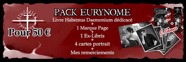 PACK EURYNOME Livre Habemus Daemonium dedicace 1 Marque Page Pour 50 1 Ex-Libris 4 cartes portrait Mes remerciements